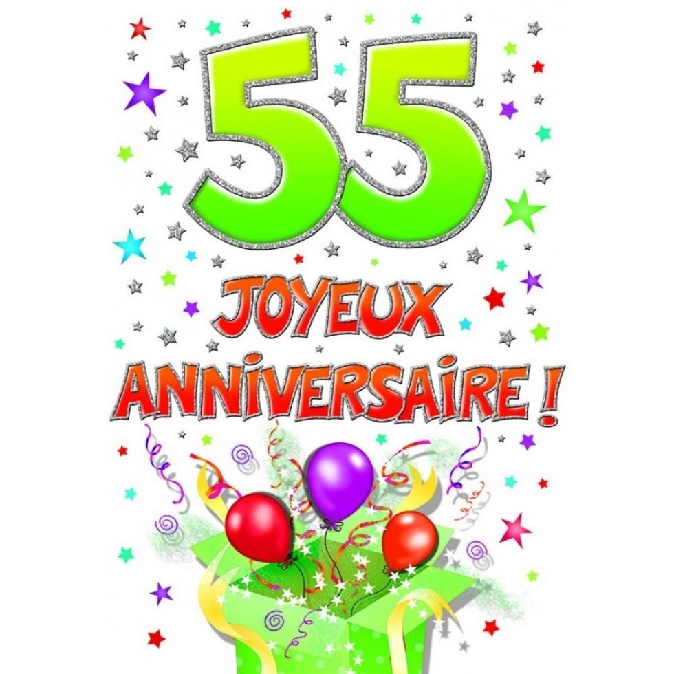 Carte 55 Joyeux Anniversaire Anniversaire Fetes Naissance Party Souhaits Piccadilly Lideecadeauweb Ca