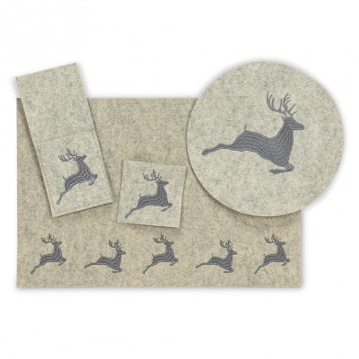 Assortiment Une Place Cerf (3pcs)