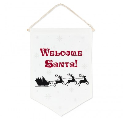 Welcome Santa ! - Wall pennant