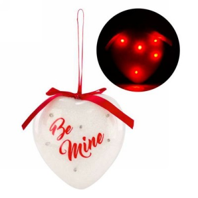 Ornement Coeur illuminé : Be Mine