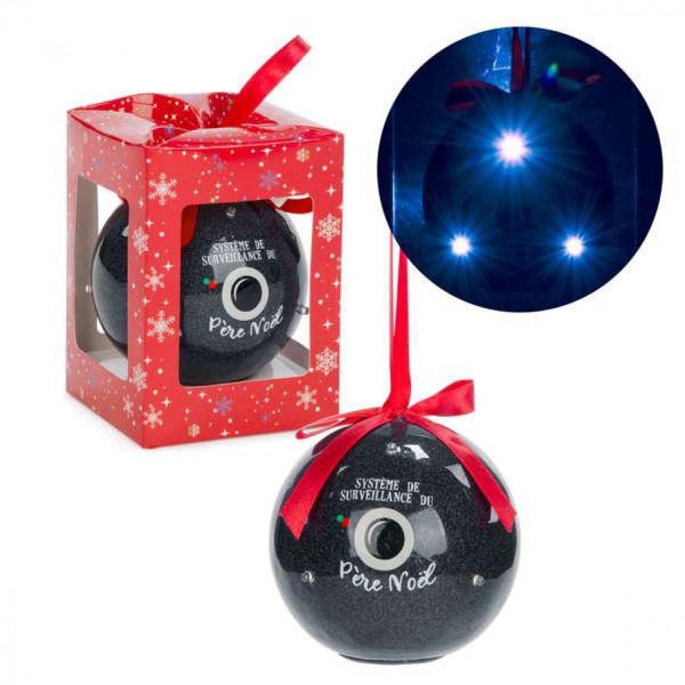 ornement syst me de surveillance p re noel ornement boule. Black Bedroom Furniture Sets. Home Design Ideas