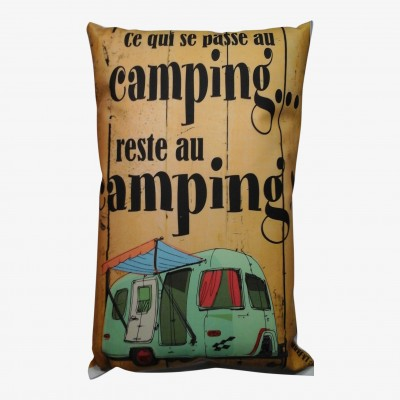 Coussin Ce qui se Passe...Camping