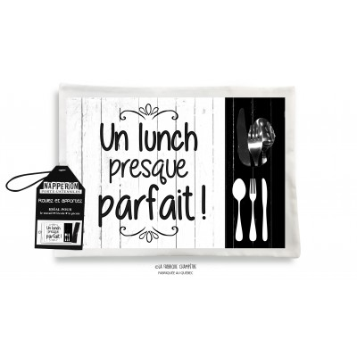 Napperon : Un Lunch presque...