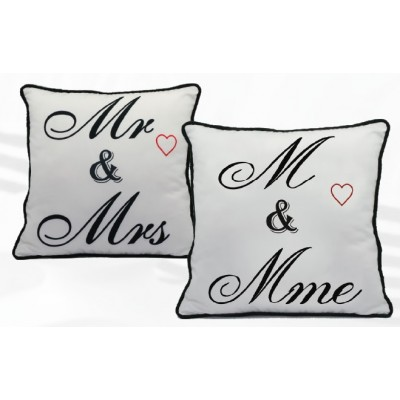 Coussin M & Mme / Mr & Mrs