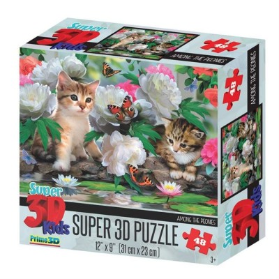 Puzzle 3D Chat among the peonies (3ans+)