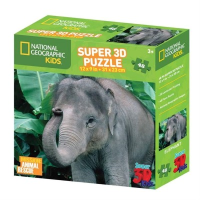 Puzzle 3D Éléphant Animal Rescue (3ANS+)