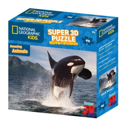 Puzzle 3D Baleine Amazing Animals (3ans+)