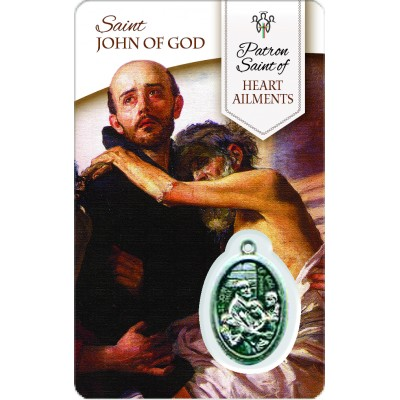 Card - Saint John Of God - Heart Aliments