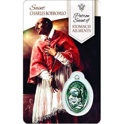 Card - Saint Charles Borromeo - Stomach Ailments