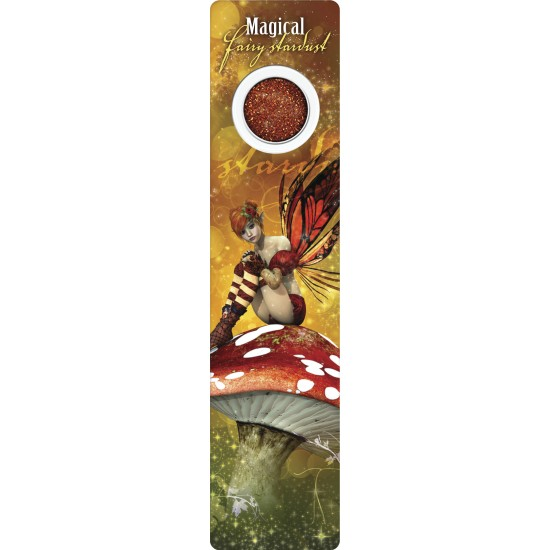 Bookmark - Red fairy on mushroom - Fairy Dust