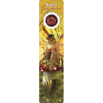 Bookmark - Yellow fairy on mushroom - Fairy Dust