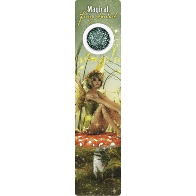 Bookmark - Green fairy on mushroom - Fairy Dust