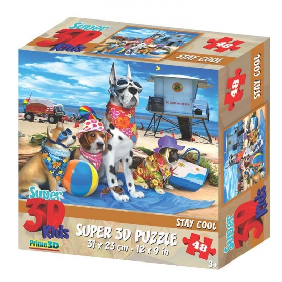 Puzzle 3D Chien Stay Cool (3ans+)