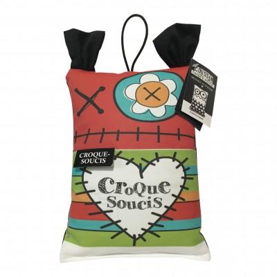 Croque Soucis : Coeur / Rouge & Multi