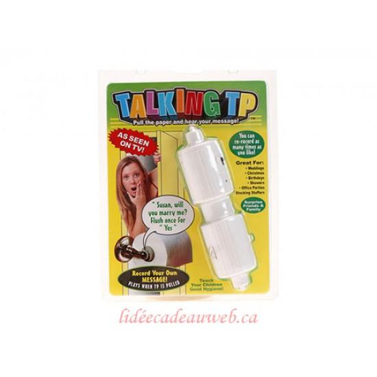 Porte Rouleau de papier Toilette parlant
