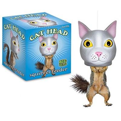 Mangeoire d'écureuil tête de chat