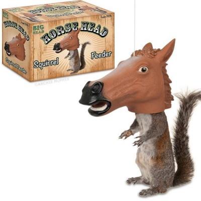 Mangeoire d'écureuil tête de cheval