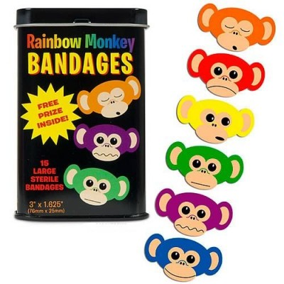 Pansements Rainbow Monkey